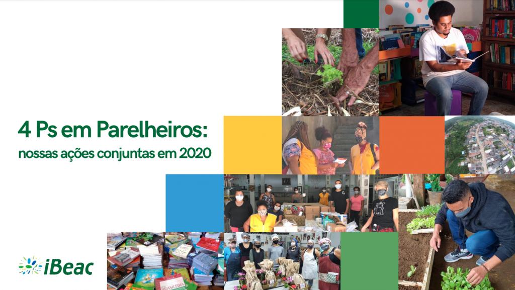 Capa do relatório sobre os 4 Ps em Parelheiros: nossas ações conjuntas em 2020.