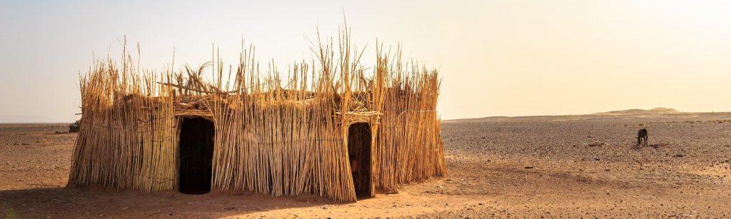 Foto de Cabana Africana feita de palha